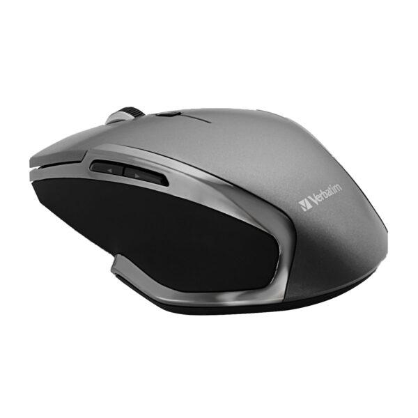 Verbatim Wireless 6-Button Deluxe Blue LED Mouse – Graphite
